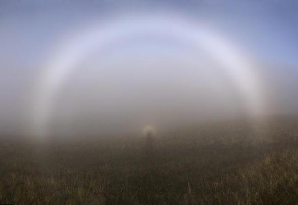 Туманная радуга на поле