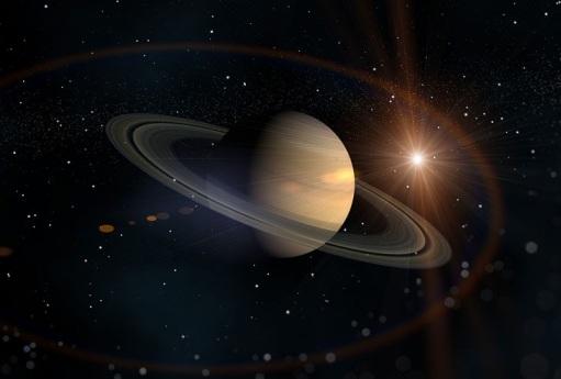 Фотография планеты Сатурн в Космосе
