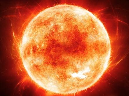 Фотография звезды Солнце в Космосе