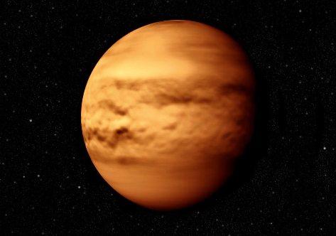 Фотография планеты Венера в Космосе