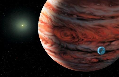 Фотография планеты Юпитер в Космосе